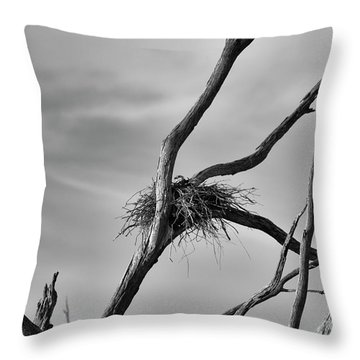 Throw Pillow featuring the photograph Nested by Douglas Barnard