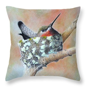 Nesting Anna Throw Pillow