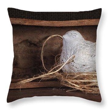 Nesting Bird Still Life II Throw Pillow