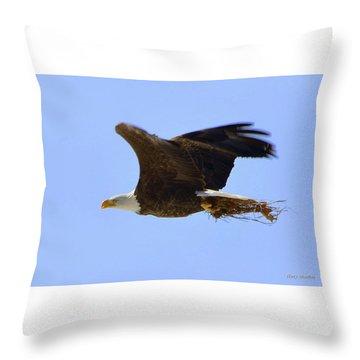 Nesting Eagle Throw Pillow