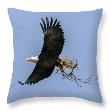 Nesting Materials 2 Throw Pillow