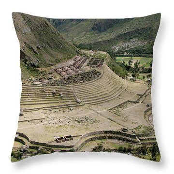 Nestled At The Foot Of A Mountain Throw Pillow