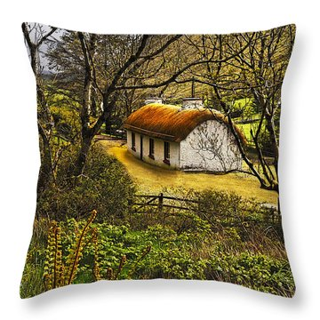 Nestled In The Wood Throw Pillow