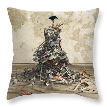 Net Worth Throw Pillow by Cynthia Decker