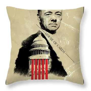 Netflix House Of Cards Frank Underwood Portrait  Throw Pillow