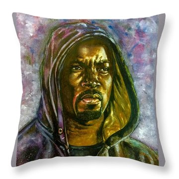 Netflix Luke Cage Throw Pillow by Darryl Matthews
