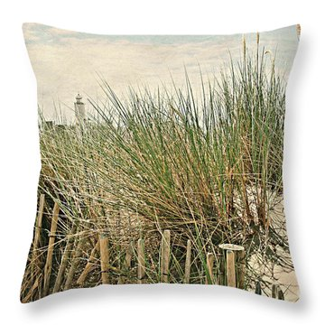 Netherlands - Dunes And Lighthouse Throw Pillow