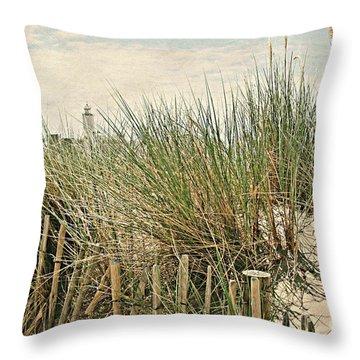 Netherlands - Dunes And Lighthouse Throw Pillow