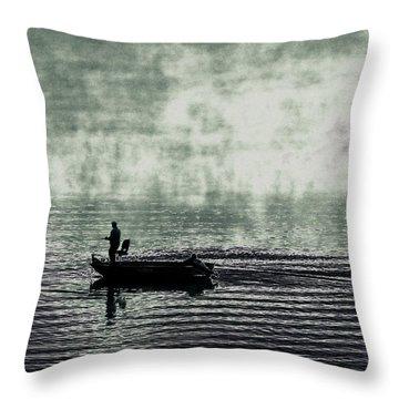 Throw Pillow featuring the photograph Netherworld Lake by Steven Huszar