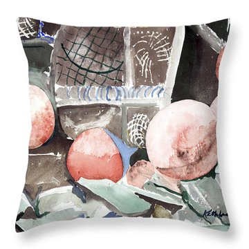 Nets And Floats Throw Pillow