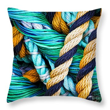Nets And Knots Number Five Throw Pillow