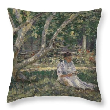 Nettie Reading Throw Pillow