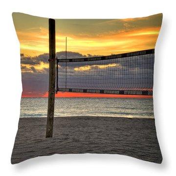 Netting The Sunrise Throw Pillow