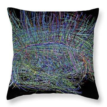 Neural Fibers In Human Brain Throw Pillow