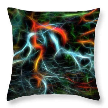 Neurons On Fire Throw Pillow