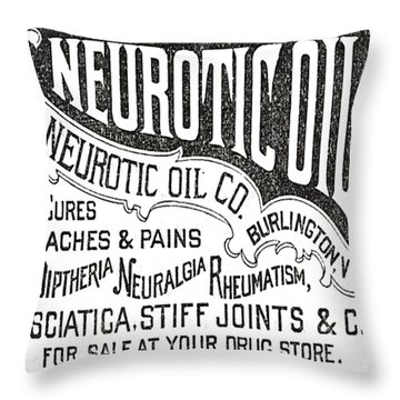 Neurotic Vintage Ad Throw Pillow