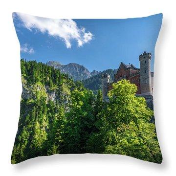 Throw Pillow featuring the photograph Neuschwanstein Castle by David Morefield