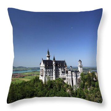 Neuschwanstein Castle Throw Pillow by John Bushnell