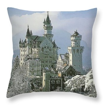 Neuschwanstein  Throw Pillow