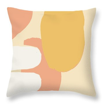 Neutral Abstract Throw Pillow