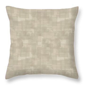 Neutral Brown Abstract Pattern Throw Pillow