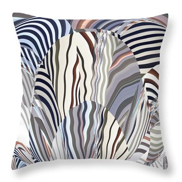 Neutral Graphic Oval Blossom Throw Pillow