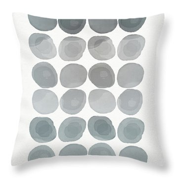 Neutral Stones- Art By Linda Woods Throw Pillow