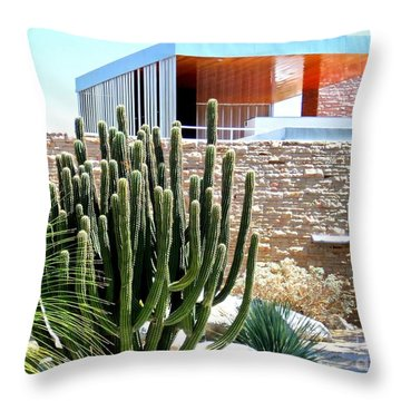 Neutra's Kaufman House 2 Throw Pillow