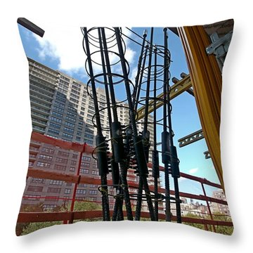 Neuvo Rebar Throw Pillow by Steve Sahm