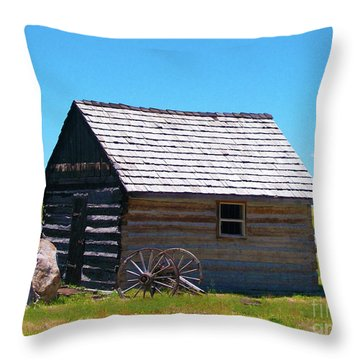 Nevada Log Cabin Throw Pillow