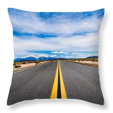 Nevada Road Trip Throw Pillow