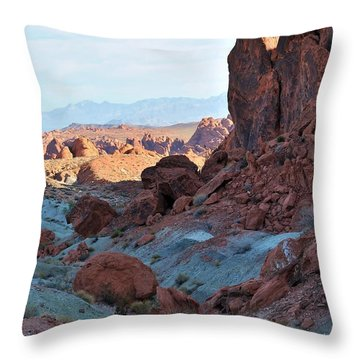 Nevada Rocks 11 Throw Pillow