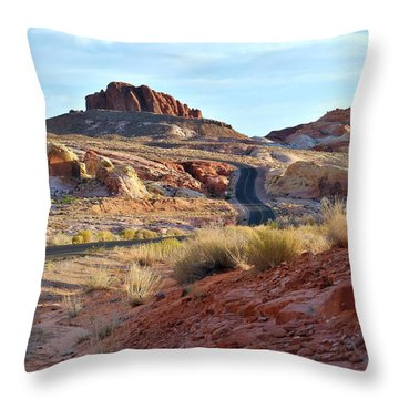 Nevada Rocks 1b Throw Pillow