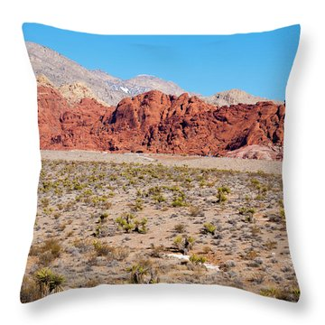Nevada's Red Rocks Throw Pillow by Rae Tucker