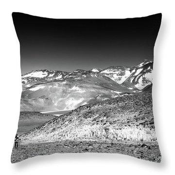 Nevado Ojos Del Salado Throw Pillow
