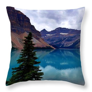 Bow Lake, Banff, Ab  Throw Pillow