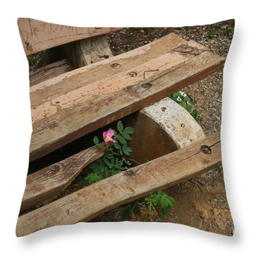 Never Fading Nature Throw Pillow by Mary Mikawoz