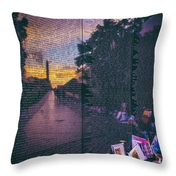 Throw Pillow featuring the photograph Never Forget by Edward Kreis
