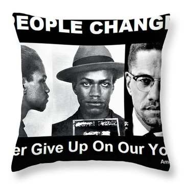 Never Give Up On Our Youth Throw Pillow