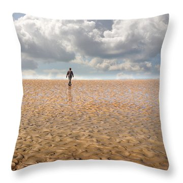Never Go Back Throw Pillow by Mal Bray