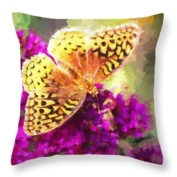 Never Hide Your Wings Throw Pillow