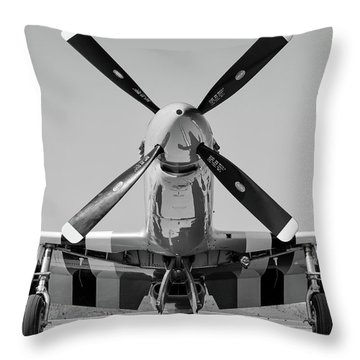 Never Keep A Mustang Waiting Throw Pillow