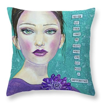 Never Let Your Voice Be Silent Throw Pillow