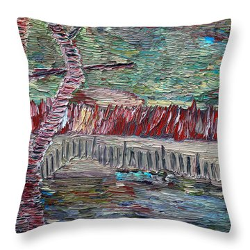 Throw Pillow featuring the painting Infinite Hope by Vadim Levin