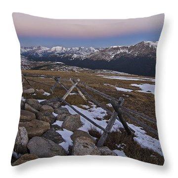 Never Summer Range Throw Pillow