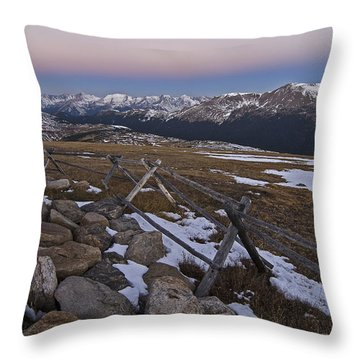 Throw Pillow featuring the photograph Never Summer Range by Gary Lengyel