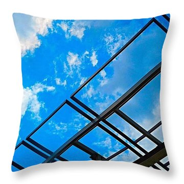 Never Tell Me The #sky Is The Limit Throw Pillow
