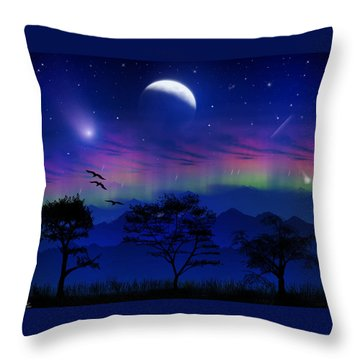 Throw Pillow featuring the photograph Neverending Nights by Bernd Hau