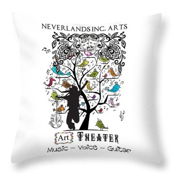 Neverlands Inc. Arts Poster Throw Pillow