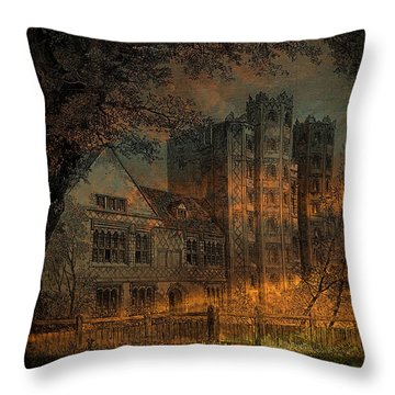 Nevermore Throw Pillow by Fran J Scott